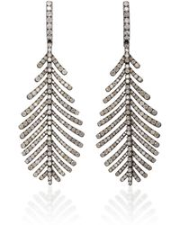 Sidney Garber - 18k Plume Grey Diamond Earrings - Lyst