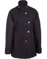 Cedric Charlier - Wool-blend Military Coat - Lyst