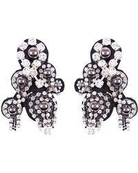 Dorothee Schumacher - Rock Glam Embroidered Clip Earrings - Lyst