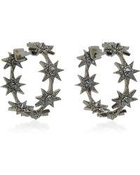 Colette - Baby Star 18k Gold Black Diamond Earrings - Lyst