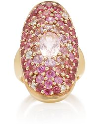 Sylvie Corbelin - Marquise Palace 18k Gold, Tourmaline, Sapphire And Diamond Ring - Lyst