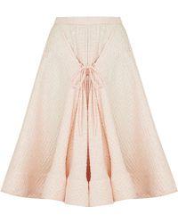 Razan Alazzouni - Front Tie Swing Skirt - Lyst