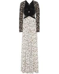Roberto Cavalli - Retro Leopard Long Sleeve Knit Dress - Lyst