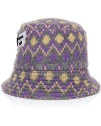 Prada - Shetland Chevron Logo Hat - Lyst