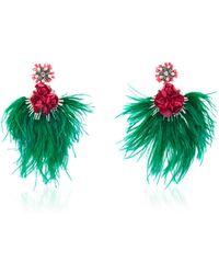 Ranjana Khan   Embellished Feather Drop Earrings   Lyst
