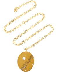 CVC Stones - Elementare 18k Gold, Beach Stone And Diamond Necklace - Lyst