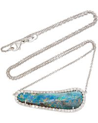 Kimberly Mcdonald - 18k Gold, Opal And Diamond Necklace - Lyst