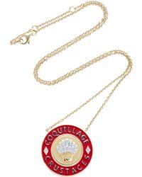 Yvonne Léon | Enamel Crustaceans 18k Gold Diamond Necklace | Lyst