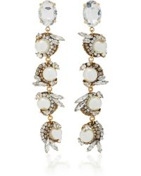 Erickson Beamon   Delicate Balance 24k Gold-plated Crystal And Pearl Earrings   Lyst