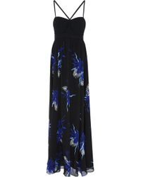 Proenza Schouler - Printed Silk-chiffon Maxi Dress - Lyst