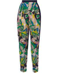 Delpozo - Printed Pleated Pants - Lyst