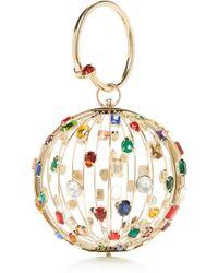 Rosantica - Le Lene Brass And Crystal Bag - Lyst