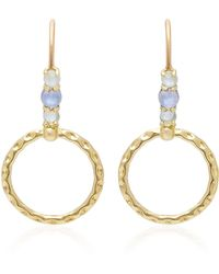 Daria de Koning - Small Orbit 18k Gold Multi-stone Hoop Drop Earrings - Lyst