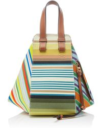 Loewe - Hammock Small Canvas And Calf Leather Bag - Lyst