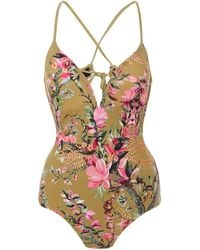 Liberty Sirena Lilith Floral-print Swimsuit - Green