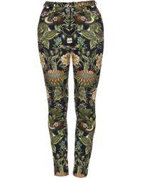 Lena Hoschek - Printed Stretch-cotton Skinny Trousers - Lyst