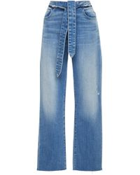 FRAME - High-rise Straight-leg Jeans - Lyst