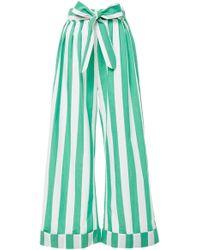 Mara Hoffman - Sasha Tied Striped Cotton-voile Wide-leg Pants - Lyst