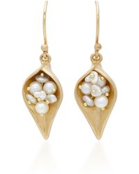 Annette Ferdinandsen | Dayflower 18k Gold Pearl Earrings Earrings | Lyst