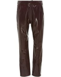 Zeynep Arcay - Cropped Patent Leather Pants - Lyst