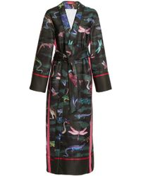 For Restless Sleepers - Nomos Animal Printed Robe - Lyst