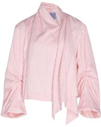 Thierry Colson - Tallulah Stripe Cotton Silk Blend Jacket - Lyst