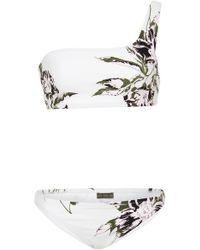 Proenza Schouler - One-shoulder Floral-print Bikini Set - Lyst