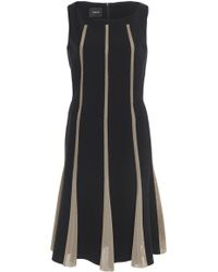 Akris - Double Face Bi-colored Wool Dress - Lyst