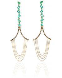 Joana Salazar - Emerald Chain Earrings - Lyst