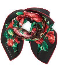 Dolce & Gabbana - Printed Silk-twill Scarf - Lyst