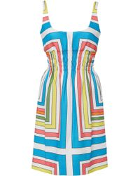Emilia Wickstead - Giovanita Printed Cloque Mini Dress - Lyst