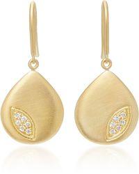 Jamie Wolf - 18k Gold Diamond Pear Earrings - Lyst