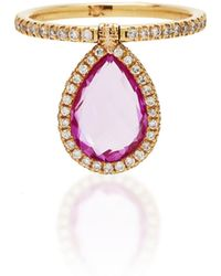 Nina Runsdorf - M'o Exclusive Medium Pink Topaz Flip Ring - Lyst