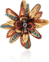 Erickson Beamon | Blue Vermeil Bouquet 24k Gold-plated Crystal Brooch | Lyst