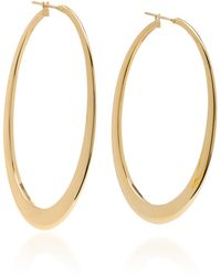 Sidney Garber - 18k Yellow Gold Crescent Oval Hoop Earrings - Lyst