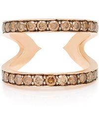 Sylva & Cie - 14k Rose Gold Diamond Ring - Lyst
