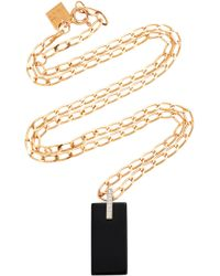 Ginette NY - 18k Rose Gold, Onyx And Diamond Necklace - Lyst