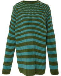 Alberta Ferretti - Striped Jumper Dress - Lyst