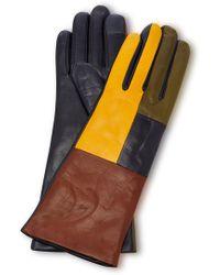 Maison Fabre - Element Color Block Leather Gloves - Lyst