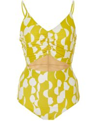 WHIT - Rouche One Piece Suit - Lyst