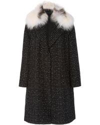 Pologeorgis - Sumiko Fox Fur-trimmed Tweed Coat - Lyst
