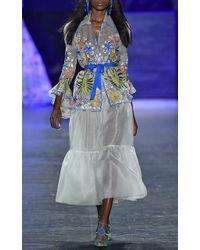 Naeem Khan | Flounced Hem High Waist Skirt | Lyst