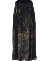 Rahul Mishra - Midnight Landscape Paneled Maxi Skirt - Lyst
