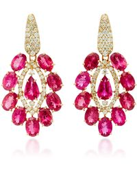 Sutra - Pink Tourmaline Drop Earrings - Lyst
