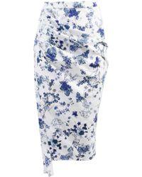 ANOUKI | Draped Pencil Skirt | Lyst
