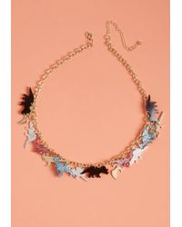 ModCloth | Prehistoric Panache Necklace | Lyst