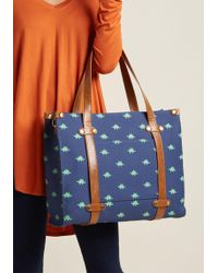 ModCloth - Camp Director Tote In Foxes - Lyst