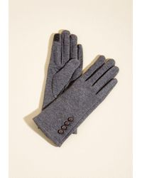 ModCloth - Elegant Adieu Texting Gloves In Charcoal - Lyst
