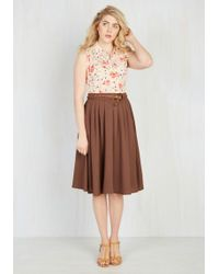 Hot & Delicious - Breathtaking Tiger Lilies Midi Skirt In Cocoa - Lyst