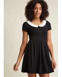 ModCloth | Record Time A-line Dress In Black | Lyst